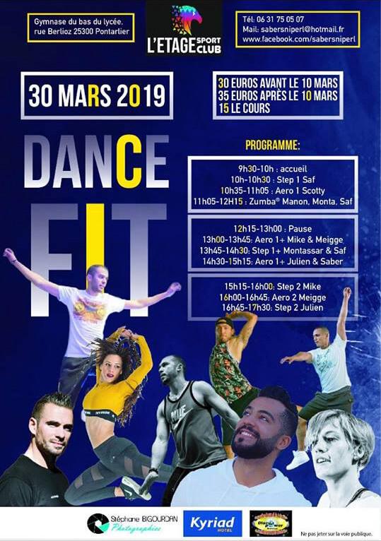 Événement sportif Dance Fit Mars 2019 Pontarlier