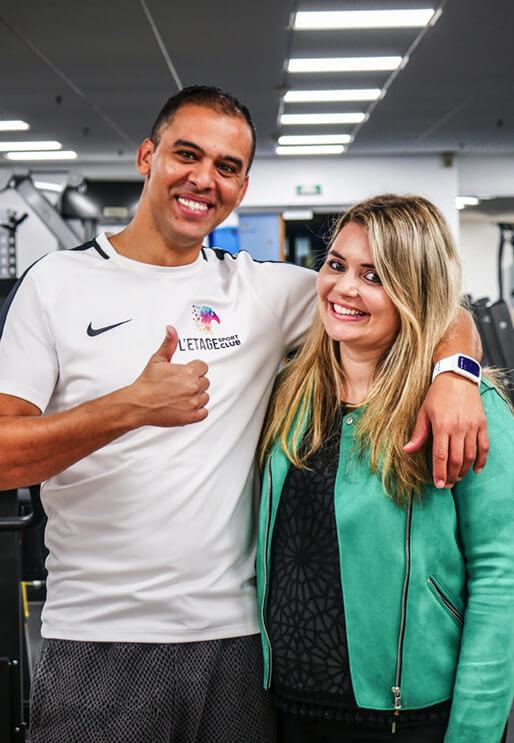 Cécilia et Saber Riahi, gérants de L'Étage Sport Club
