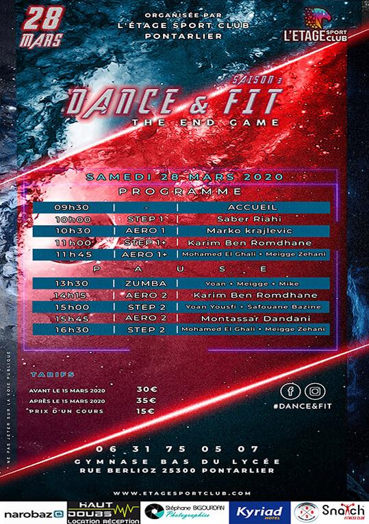 Programme Sportif Dance Fit Mars 2020 Pontarlier