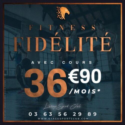 Fitness Fidélité Avec Cours, Abonnement salle de sport Pontarlier Étage Sport Club